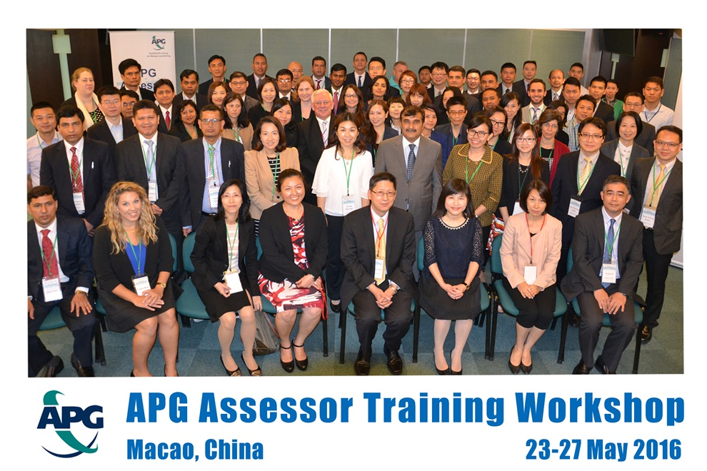 APG Assessor Training Workshop, Macao, China, 23-27 May 2016