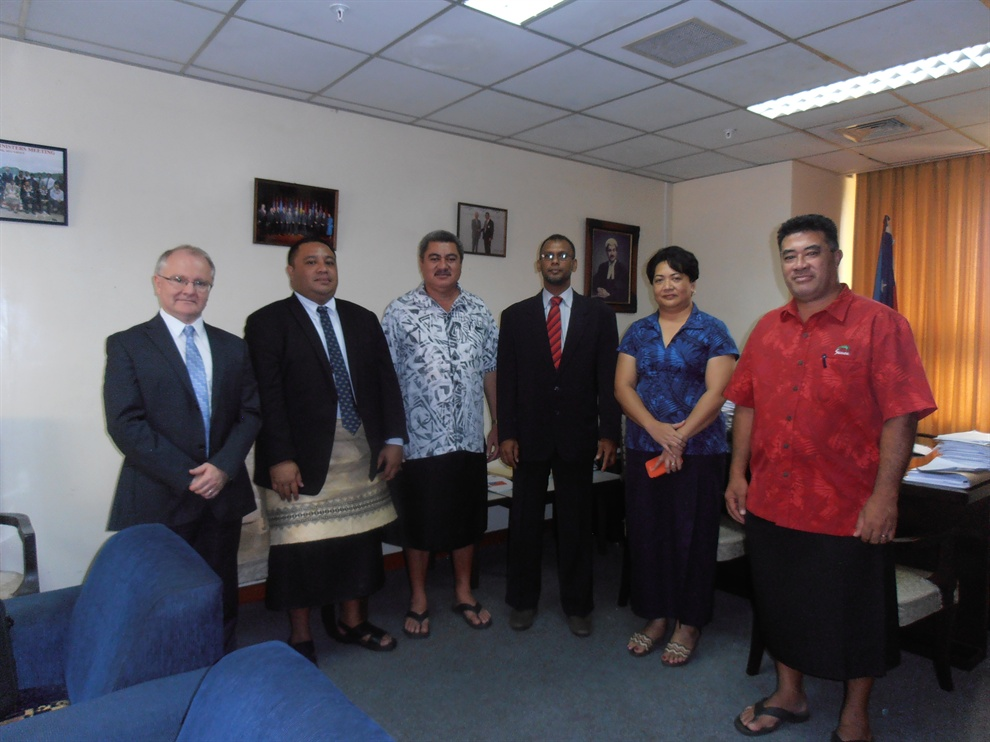 APG mission visits Samoa, 26 - 28 February 2014